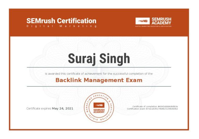 Certificate-backlink-management-exam
