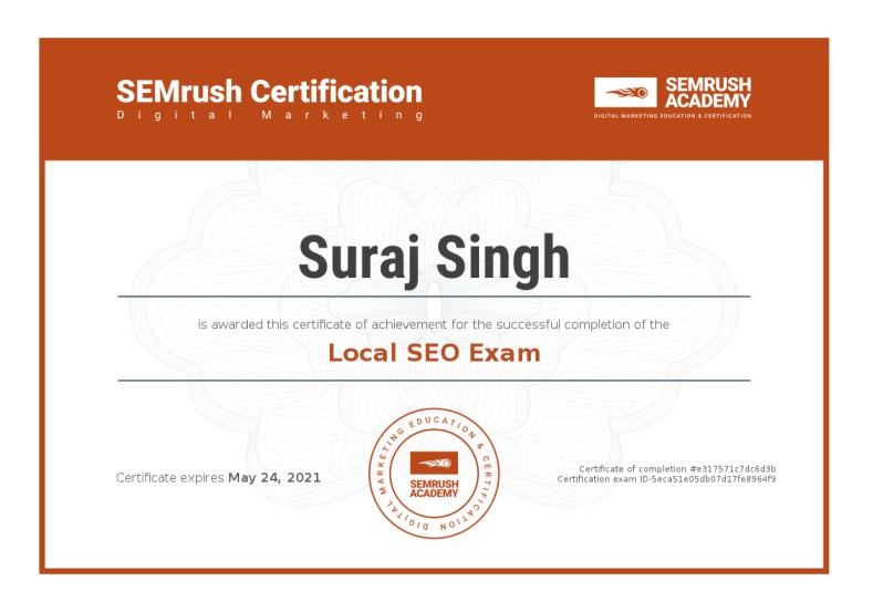 Certificate-local-seo-exam