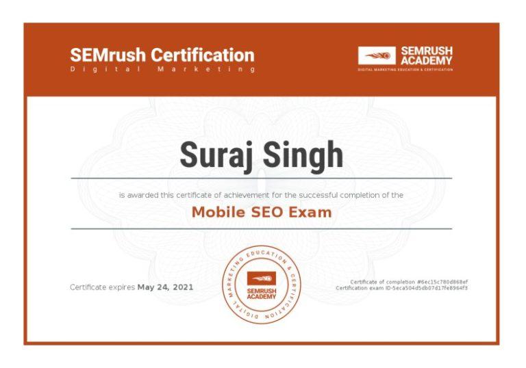 Certificate-mobile-seo-exam