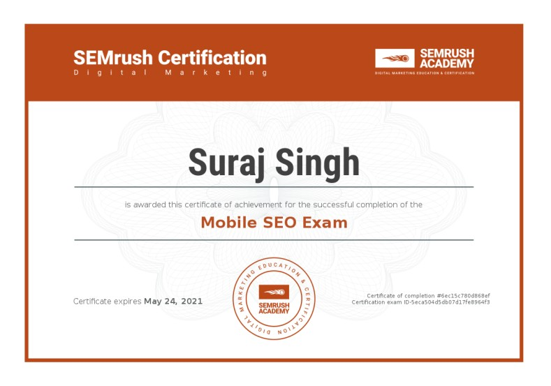 Certificate-mobile-seo-exam